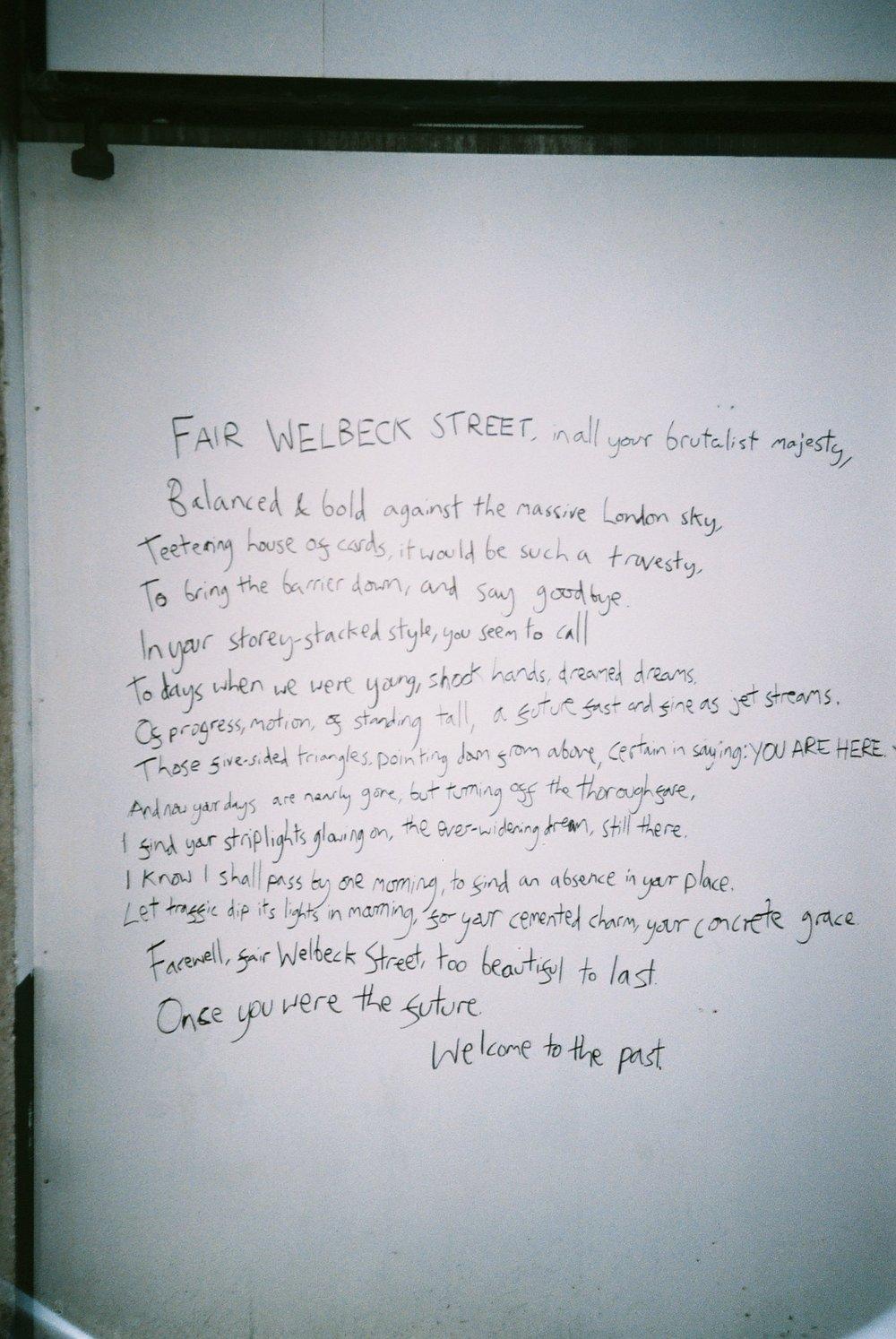 Street poetry.