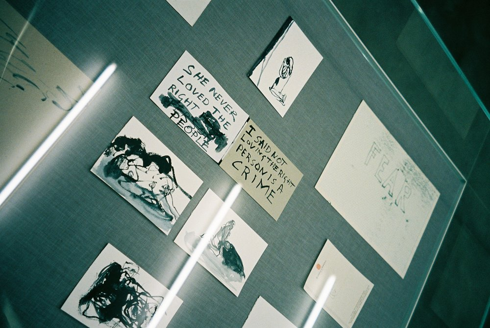 Tracey Emin's exhibition.