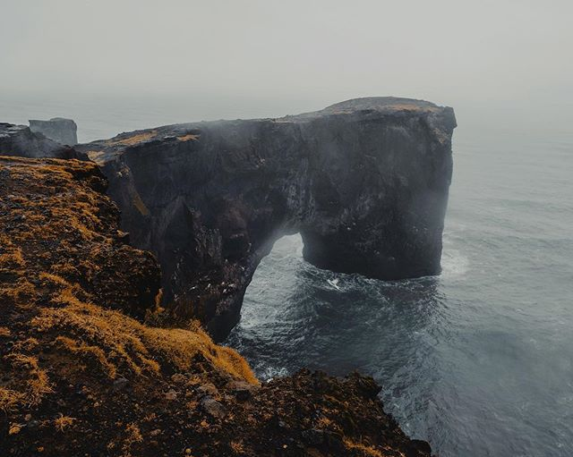 """I wonder how many """"Instagrammers"""" walked out to that ledge to take a photo 🤔 #iceland"""