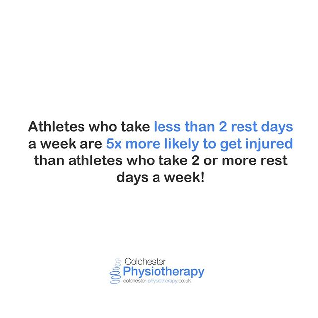 Rest days💤 help prevent injuries!  We posted this up on our Ipswich Clinic Insta (@ipswichphysiotherapy) last week, but it actually comes from the awesome @mickhughes.physio (who is well worth a follow). Rest days are as important as any other part of your training!  #ColchesterPhysiotherapy  #Colchester #Essex #CrossFit #Exercise #Exercisemotivation #Workout #Gains #Squats #Weights #Deadlifts #GymLife #GirlsWhoLift #StrengthTraining #Fitness #Fitnessmotivation #Fitnessjourney #Bodybuilding #Pilates #Fitfam #Running #RunnersOfInstagram #Marathon #Instarunners #LoveRunning⠀⠀