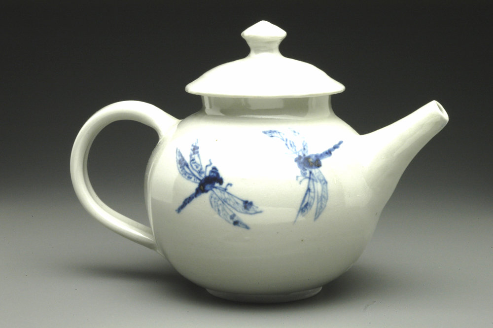 Teapot with Dragonflies