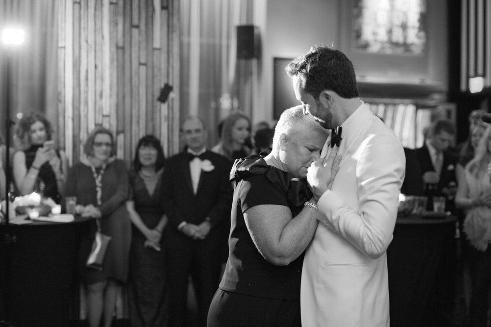 Stefan and his mother during the first dance.