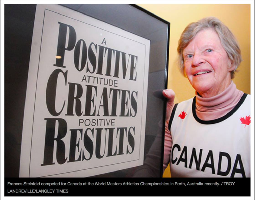 Frances Steinfeld featured in the Langley TimesFrances Steinfeld