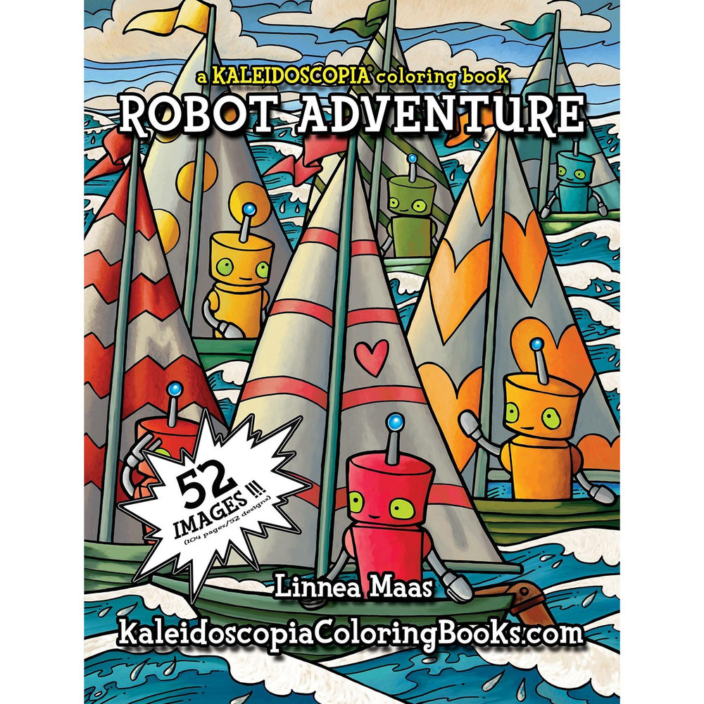 Front cover of Robot Adventure: Inside The Robot coloring book b