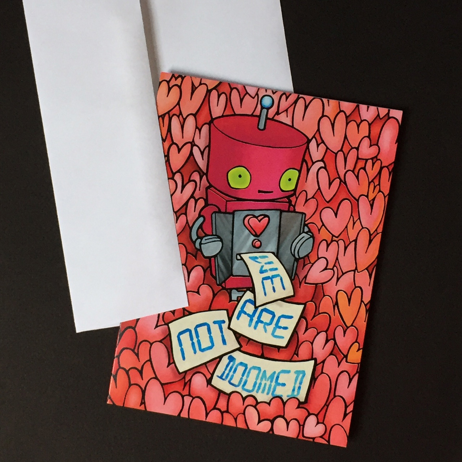 Impossible Garden Greeting Card Inside The Robot