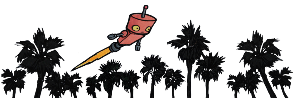 robot palm trees