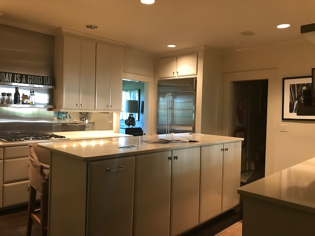 This Kitchen Design Was Only Five Years Old, But The Clients Really Wanted  Something Different. The Mirrored Backsplash And The Stainless Steel  Shelving And ...