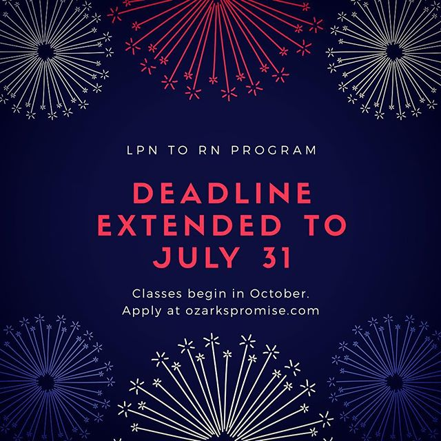 Happy 4th of July everyone! Check out our new deadline extension and apply at ozarkspromise.com