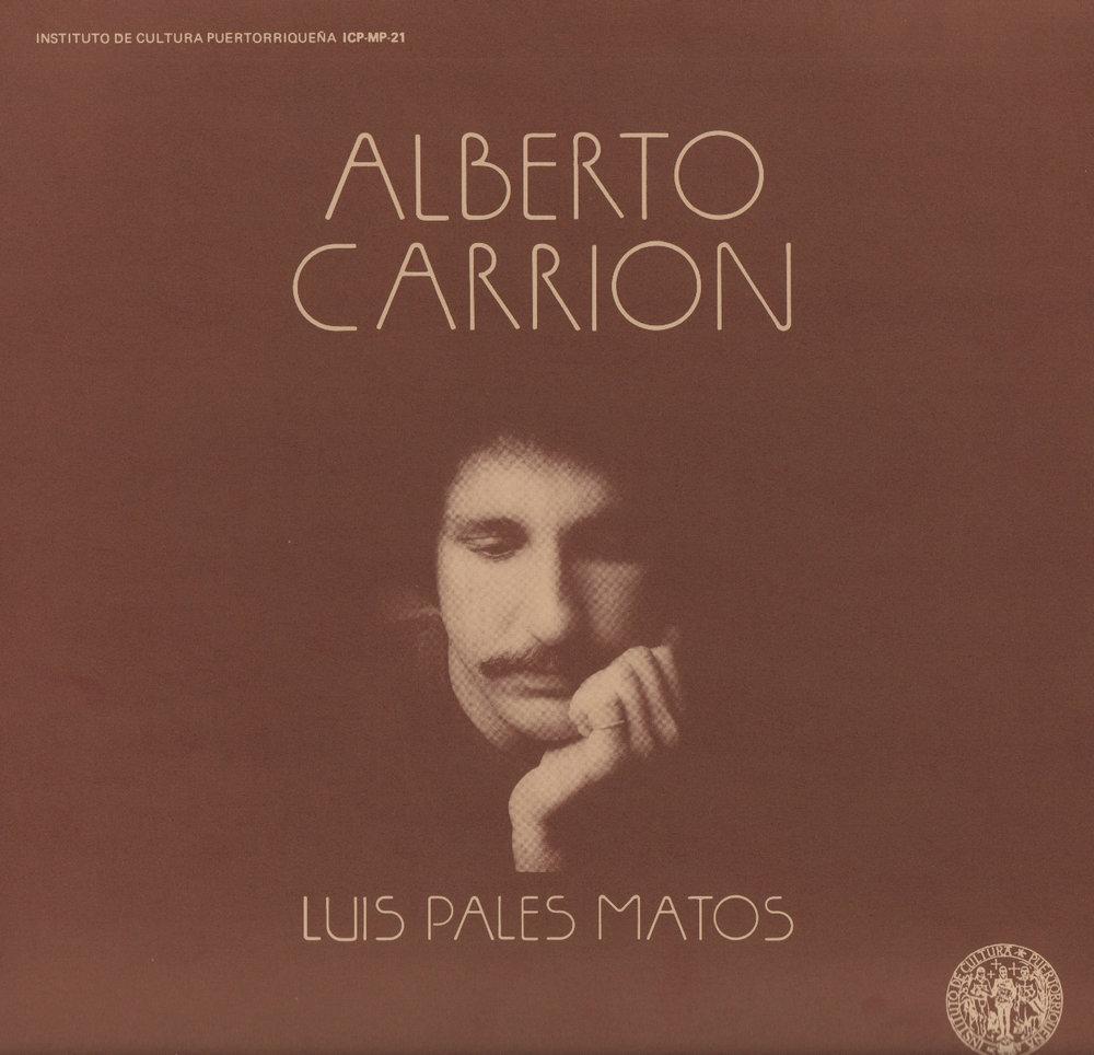 Alberto Carrión - Luis Palés Matos