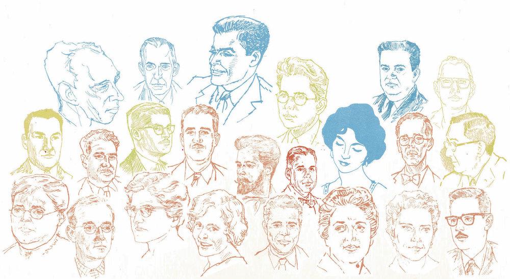 Ilustraciones de Carlos Marichal para la Primera Serie, Revista ICP.