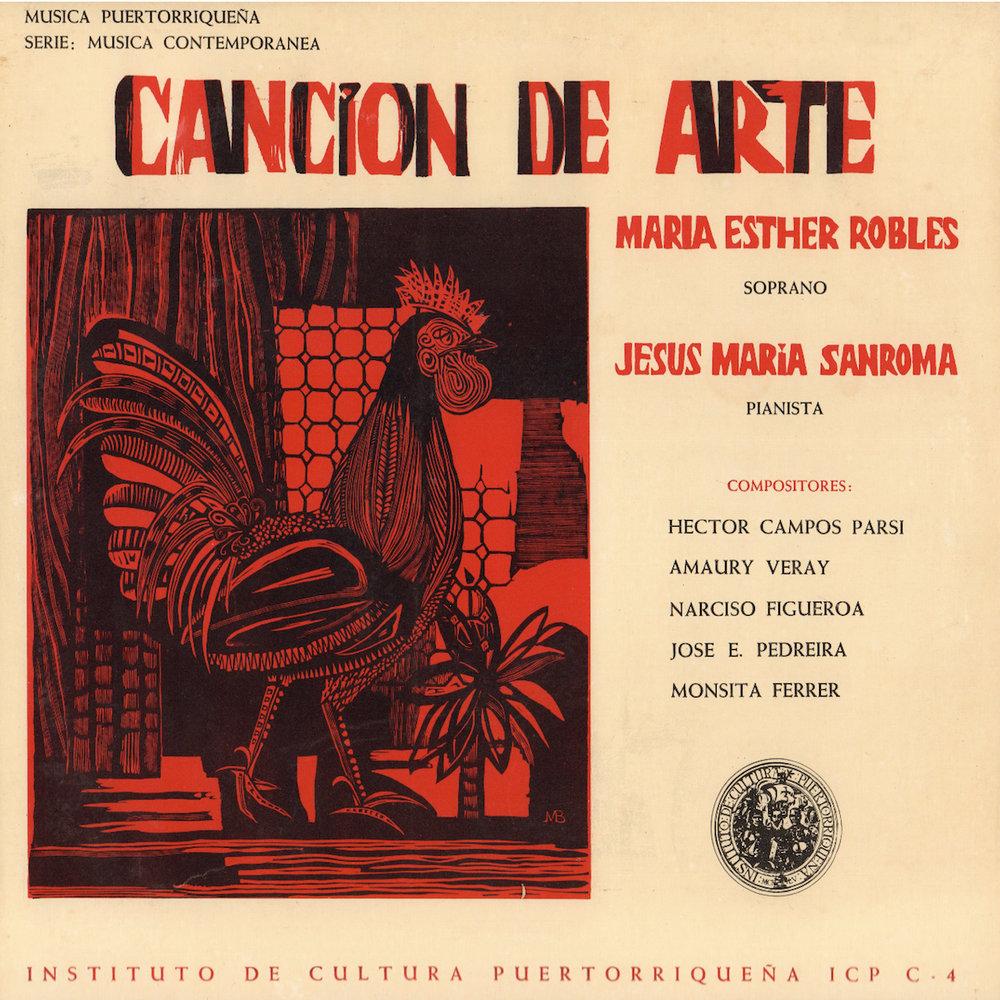 ICP/C-4: Canción de Arte   ,  interpretan la soprano María Esther Robles y Jesús María Sanromá en el piano