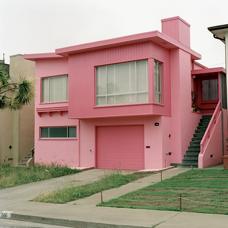 JEFF BROUWS,  Flamingo Fever, Daly City, California  (from the series Freshly Painted Houses), 1991