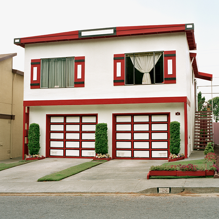 JEFF BROUWS,  Mandarin, Daly City, California  (from the series Freshly Painted Houses), 1991