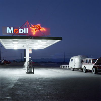 JEFF BROUWS,  Mobil, Highway 395 , Inyokern, California, 1990