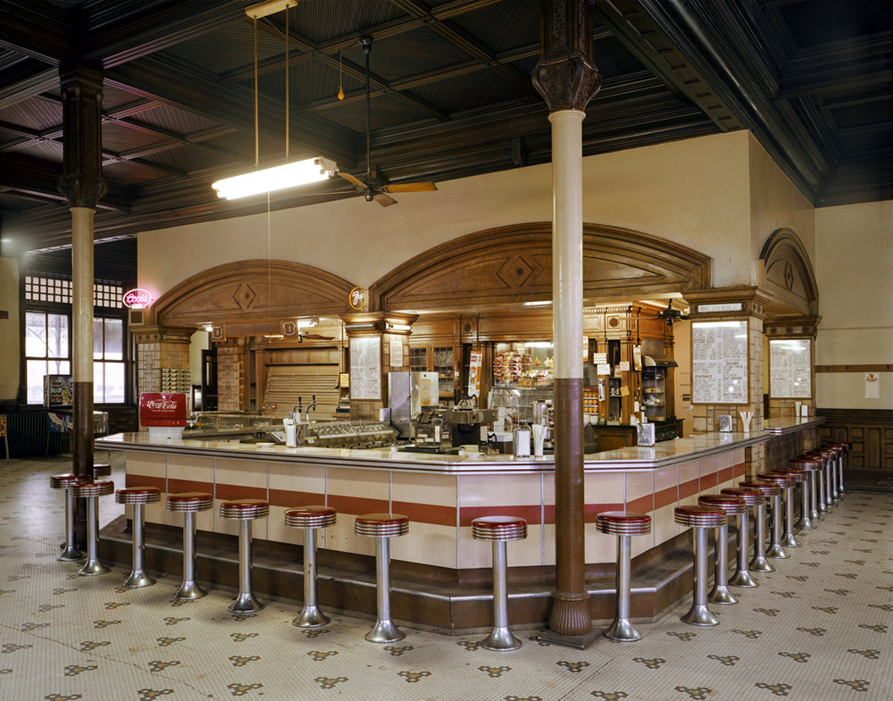 JIM DOW Lunch Counter at Union Depot Railroad Station, Pueblo, CO, 1981