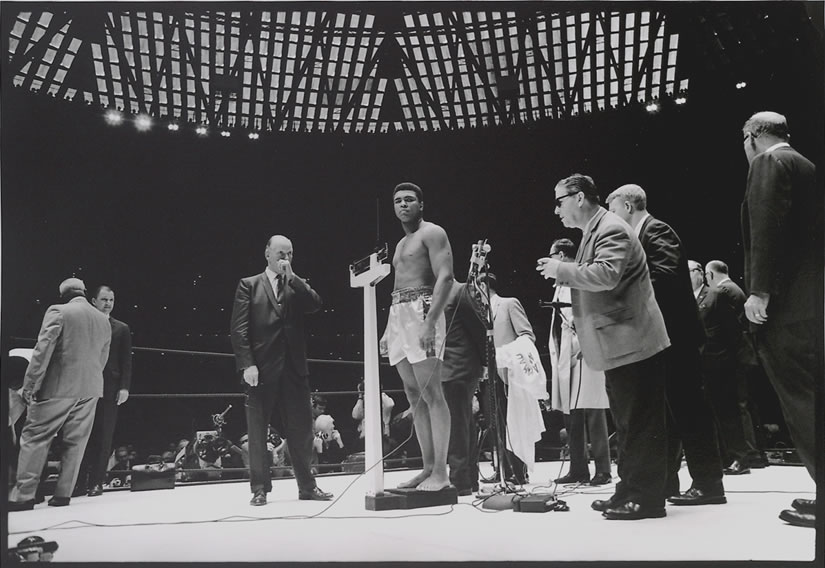 WALTER IOOSS,  Muhammad Ali and Ernie Terrell #2 ,  The Astrodome, Houston, Texas,  1967