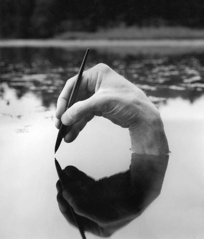 ARNO RAFAEL MINKKINEN,  Self-portrait,   Foster's Pond,  2000
