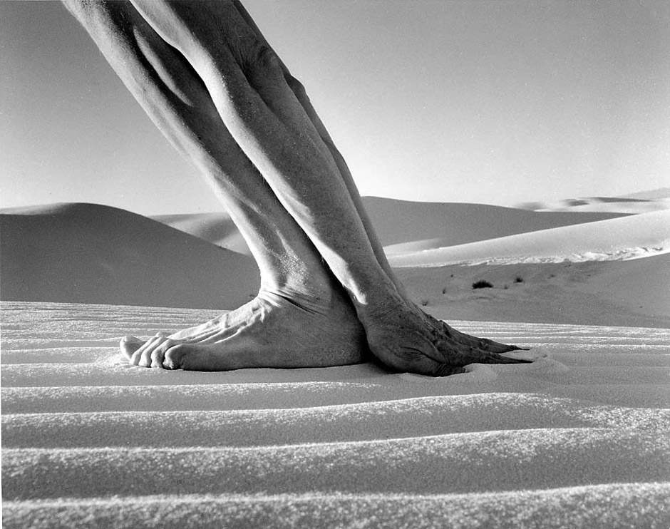 ARNO RAFAEL MINKKINEN,  Self-portrait,   White Sands, New Mexico,  2000