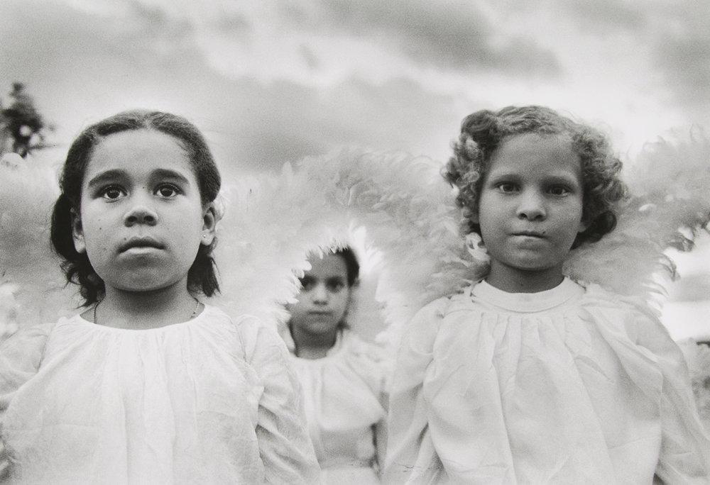SEBASTIÃO SALGADO,  Three Communion Girls ,  Brazil , 1981