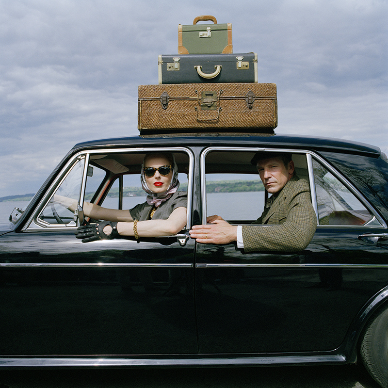 RODNEY SMITH,  Viktoria and Rainer in Car,  Snedes Landing, NY