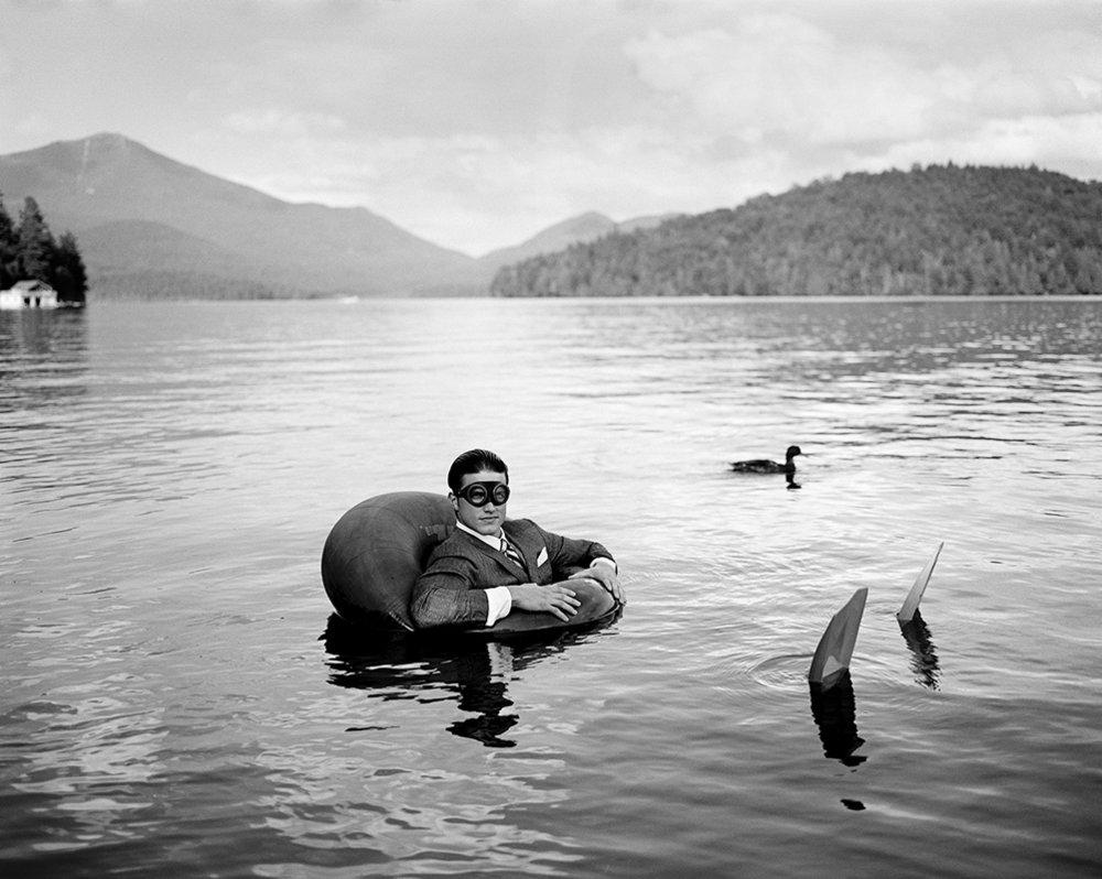 RODNEY SMITH James in Innertube with Duck, Lake Placid, New York, 2006