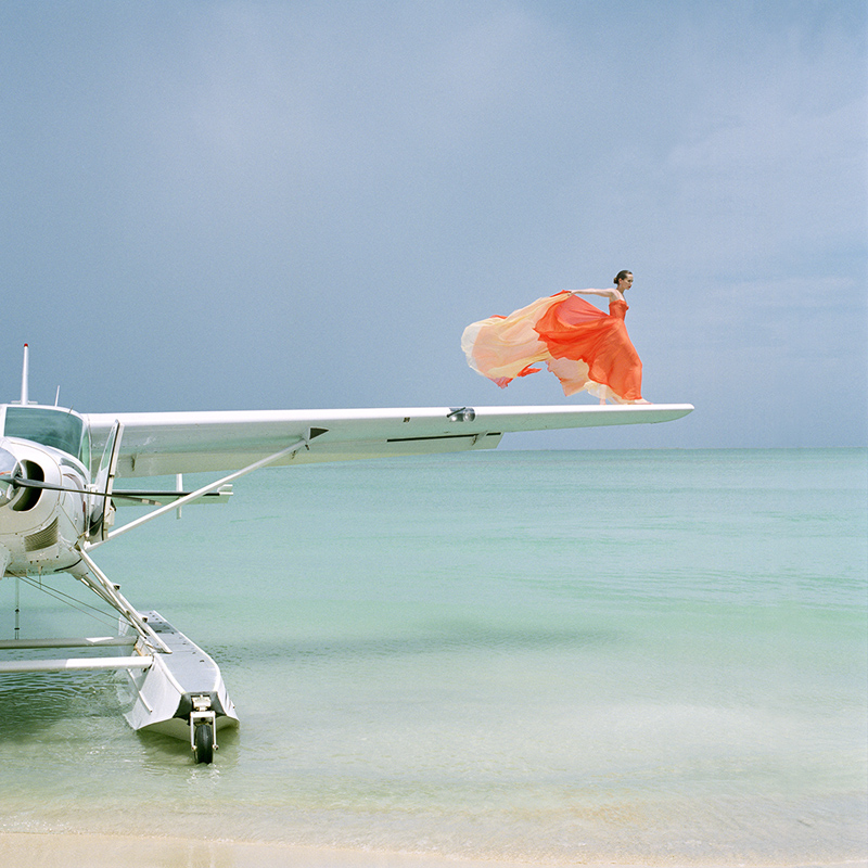 RODNEY SMITH Saori on Sea Plane Wing, Dominican Republic, 2010