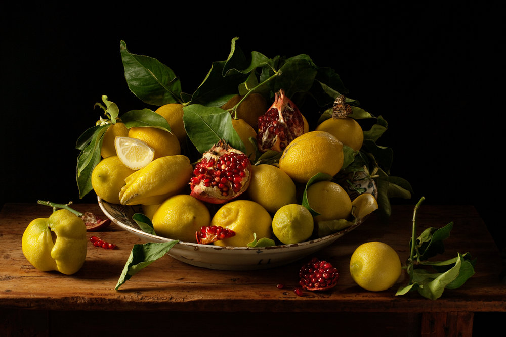 PAULETTE TAVORMINA Lemons & Pomegranates, after J.V.H. (from the series Natura Morta), 2010