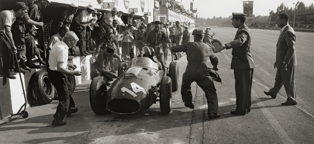 JESSE ALEXANDER, Ferrari Pit Stop, Monza, Italy , 1958