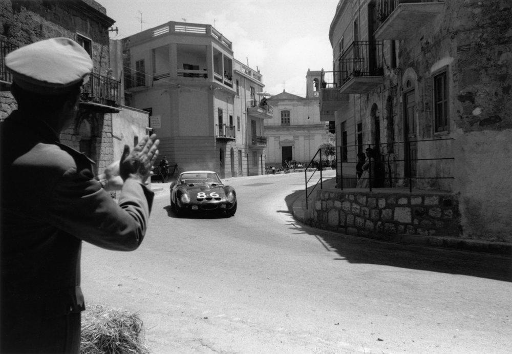 JESS ALEXANDER, Ferrari GTO in the Targa Florio, Sicily, Italy, 1962