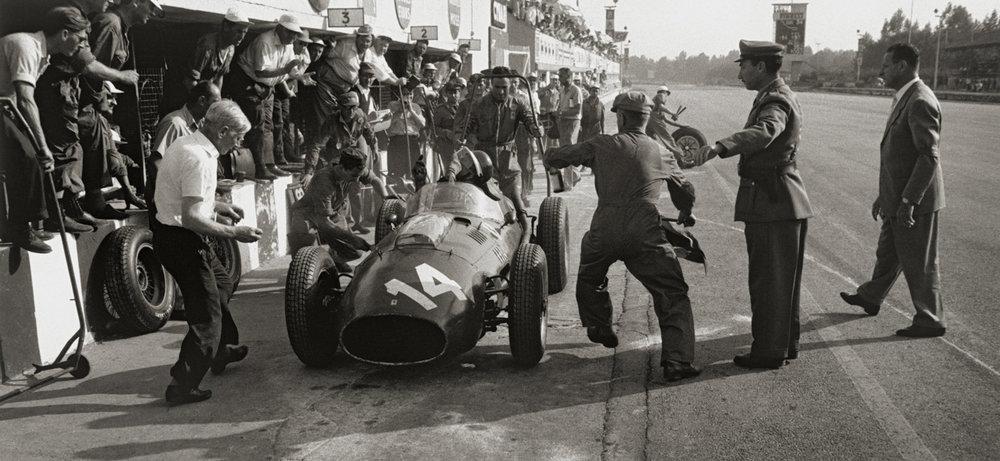 JESSE ALEXANDER, Ferrari Pit Stop, Monza, Italy, 1958
