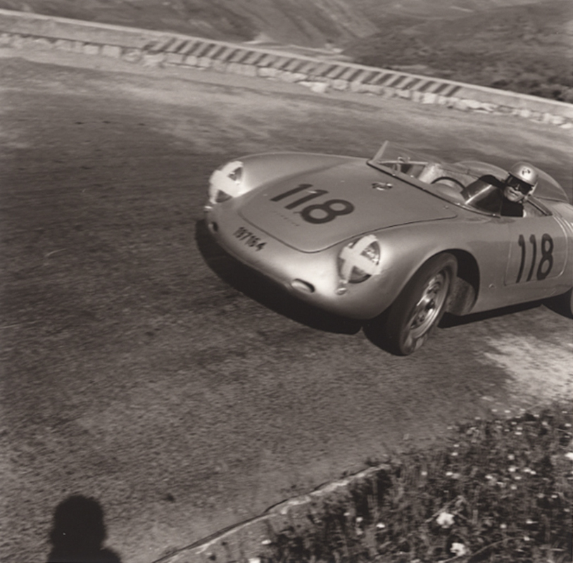 JESSE ALEXANDER, Herbert Linge, Porsche RSK, Targa Florio, Sicily, Italy, 1959