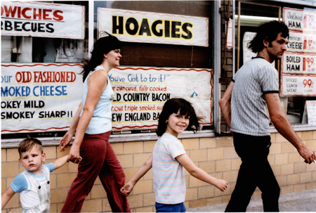 MARK COHEN,  Untitled (Family Hoagies), Pittston, Pennsylvania,  1977