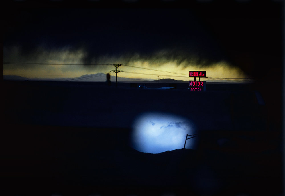 ERNST HAAS,  Western Skies Motel,  Colorado 1977