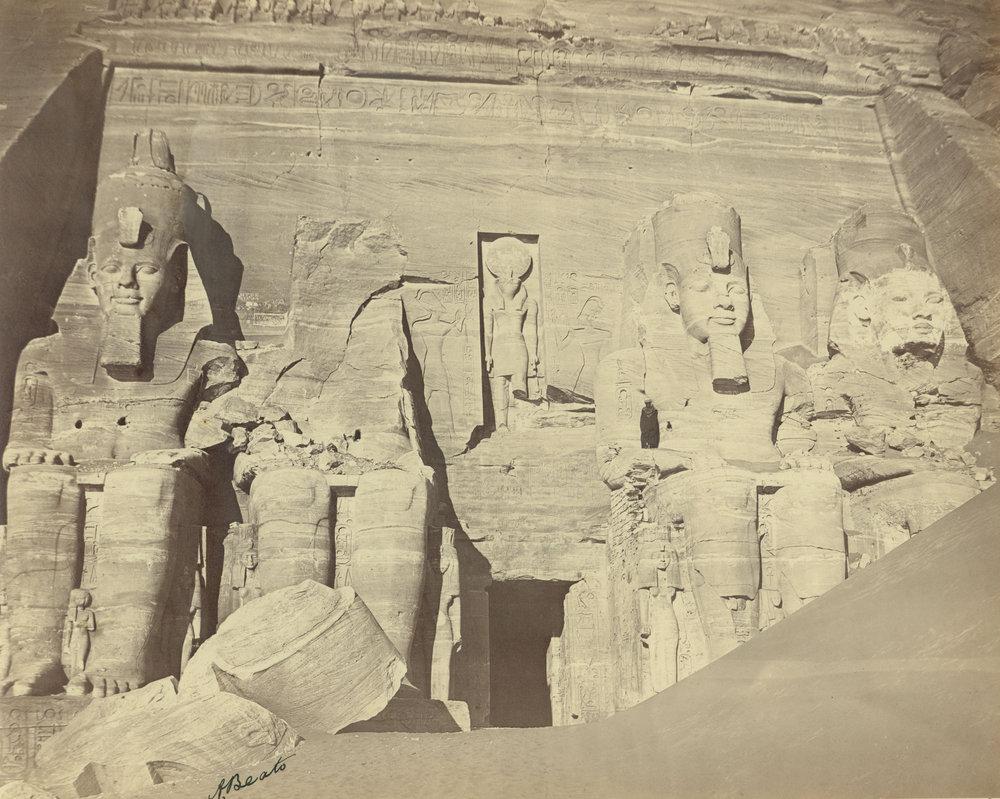 ANTONIO BEATO,  Abu Simbel , Egypt (Façade) c. 1887