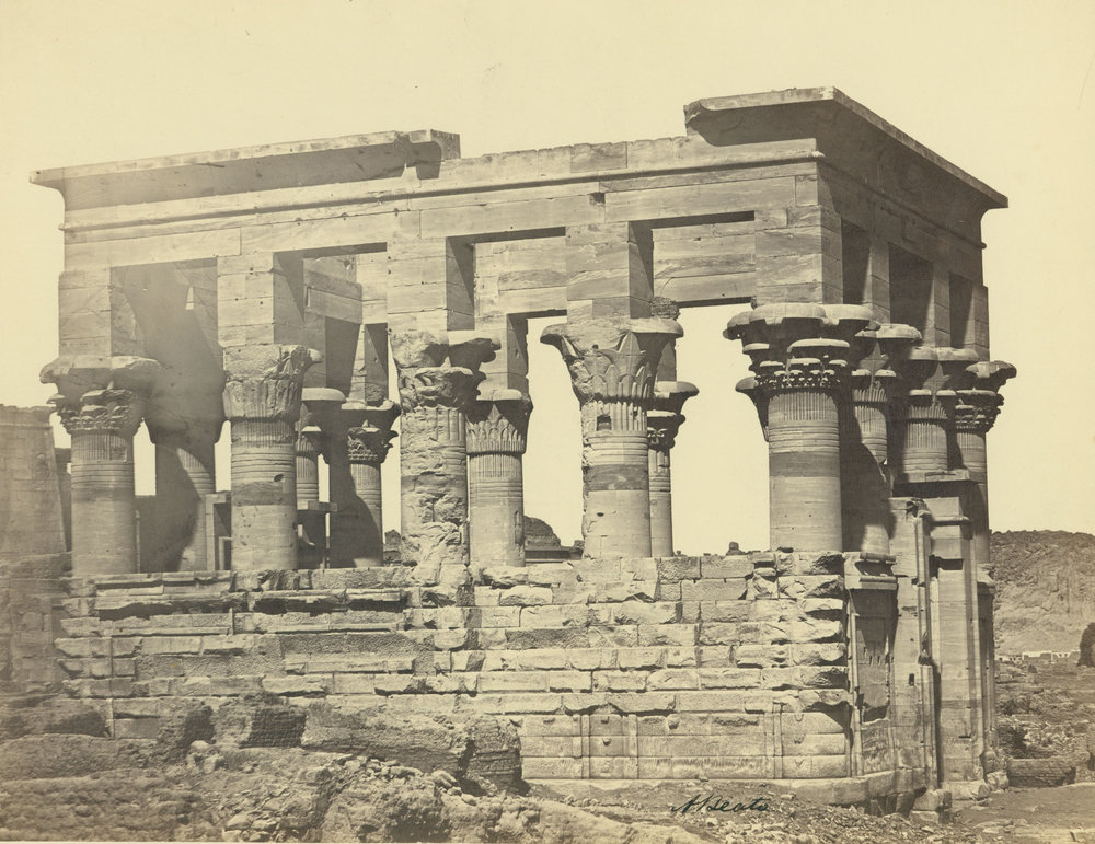 ANTONIO BEATO,  Trajan's Kioski, or Pharaoh's Bed,   Island of Philae, Egypt  c. 1887