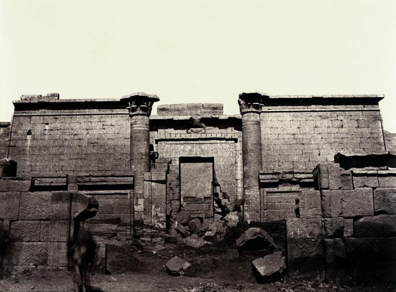LOUIS de CLERCQ, V-25 Medinet-Abou,  Grande Entrée, c. 1859-60