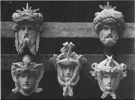 LOUIS EMILE DURANDELLE Masques des cheminées des bâtiments de l'administration #36, Le Nouvel Opéra de Paris,1875-1881