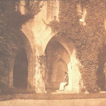 WILLIAM H. FOX TALBOT, The Ancient Vestry, Calvert Jones in the Cloisters at Lacock Abbey , September 9, 1845