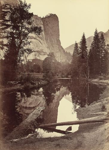 CARLETON E. WATKINS Washington Column, 208 Feet, Yosemite, c. 1865-66