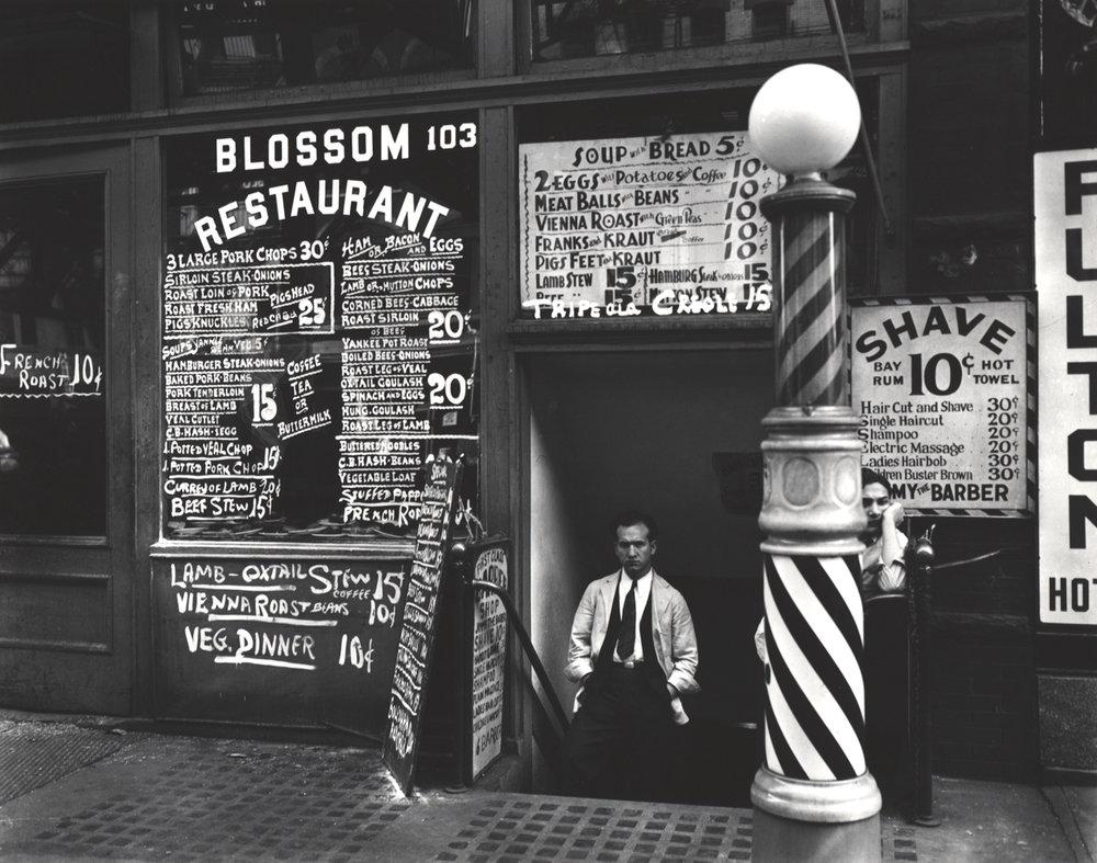 BERENICE ABBOTT Blosson Restaurant,1935/1973