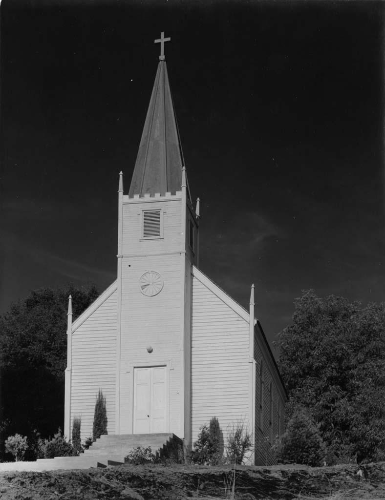 ANSEL ADAMS,  Church at Mariposa, California,  c. 1930s