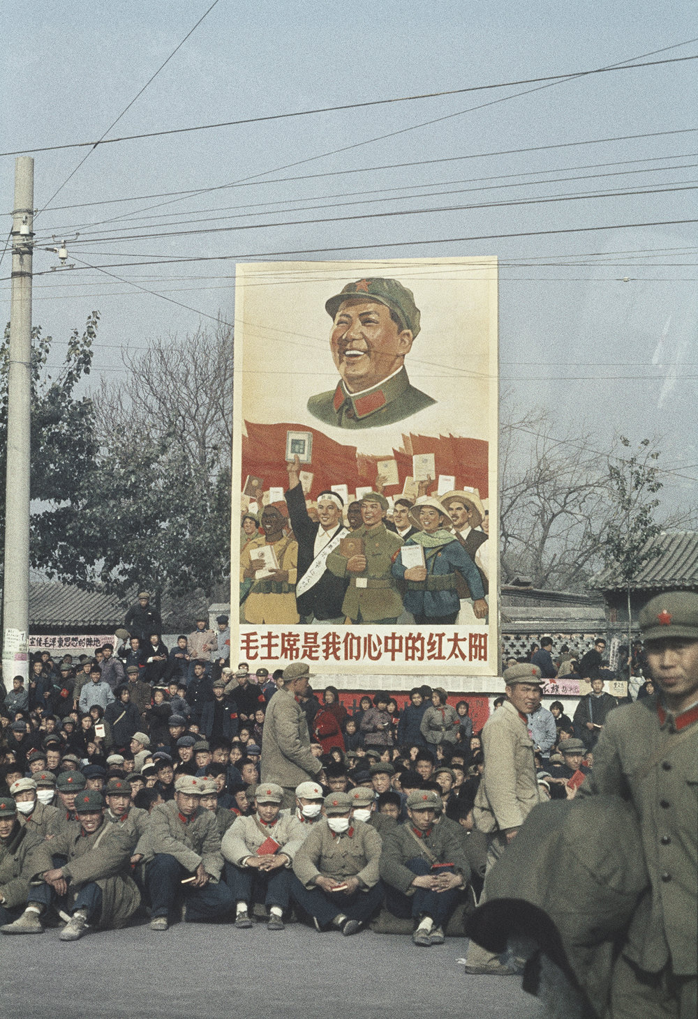 SOLANGE BRAND,  Untitled  (a demonstration), Beijing, China, November, 1966