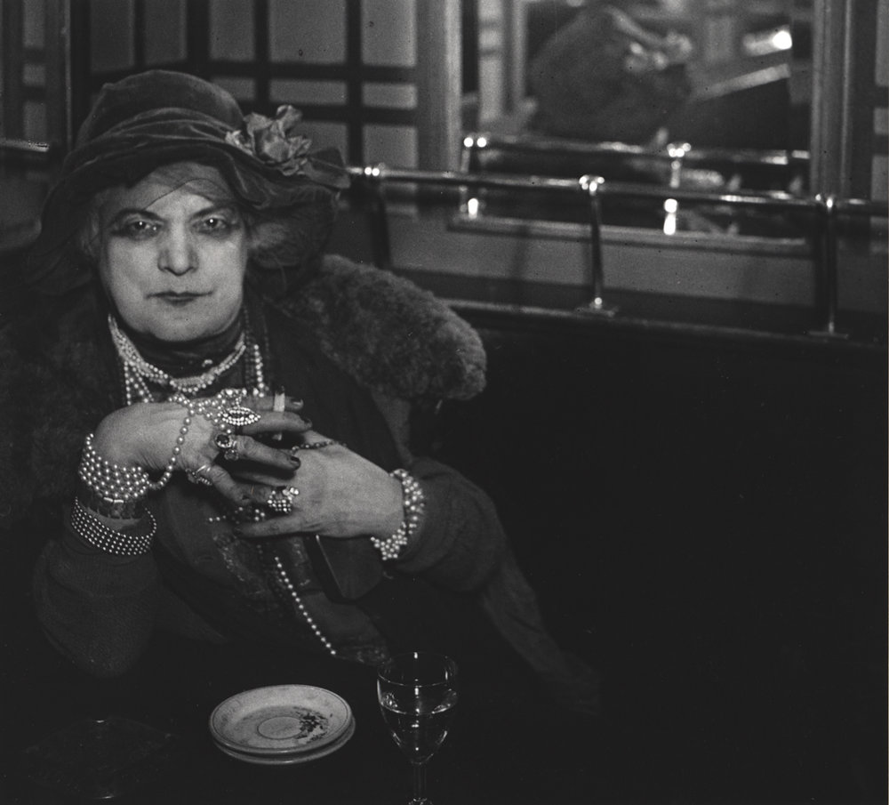 BRASSAI,  Madame Bijou in the Bar de la Lune , Paris,1932/1973