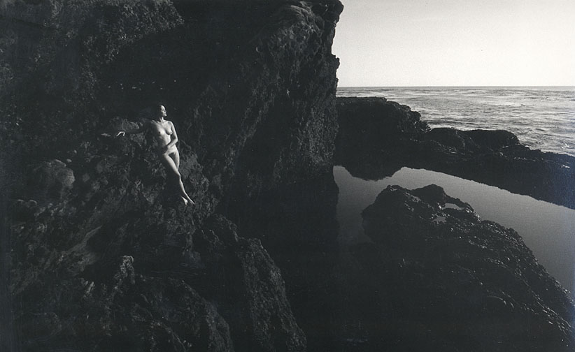 LUCIEN CLERGUE Nude, Point Lobos, CA, 1980