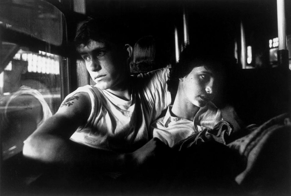 BRUCE DAVIDSON Brooklyn Gang (couple riding the train), 1959