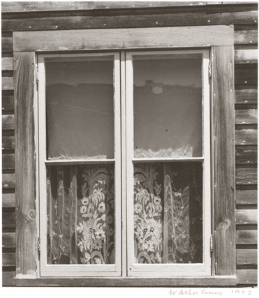 WALKER EVANS,  Window , Mystic, Connecticut, 1942