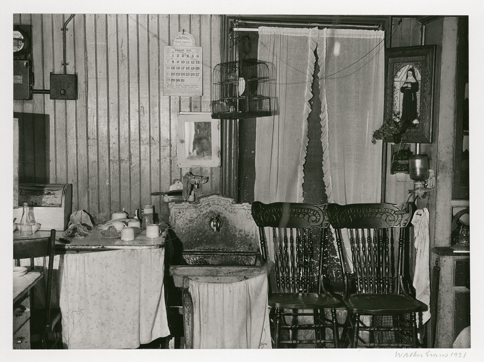 WLAKER EVANS,  New York City Tenement Kitchen,  1931