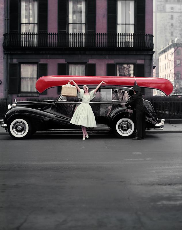 WILLIAM HELBURN, Red Canoe (Barbara Mullen), New York, 1957