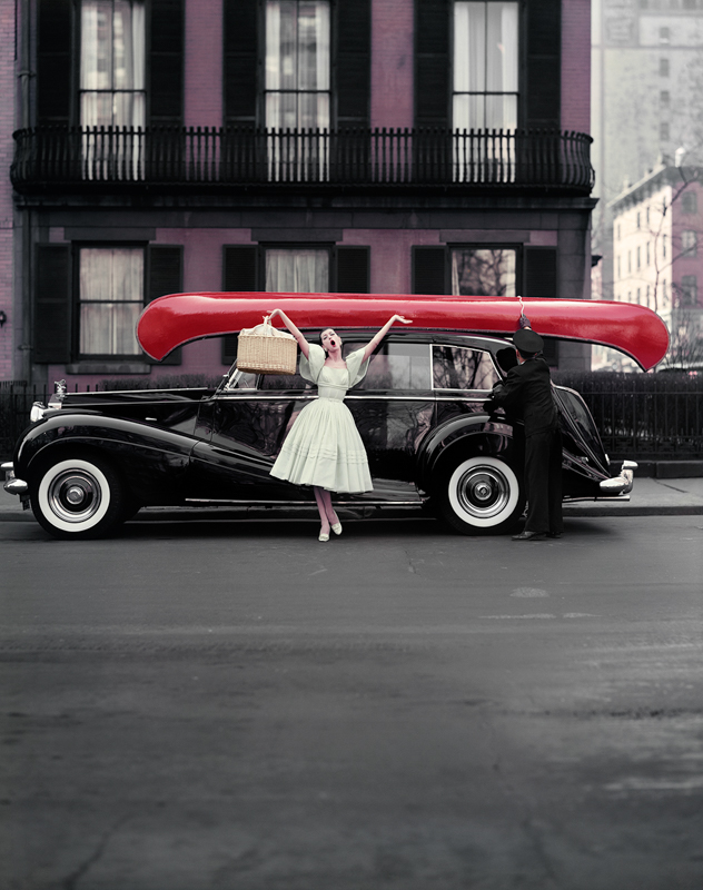 WILLIAM HELBURN,  Red Canoe  (Barbara Mullen), New York, 1957