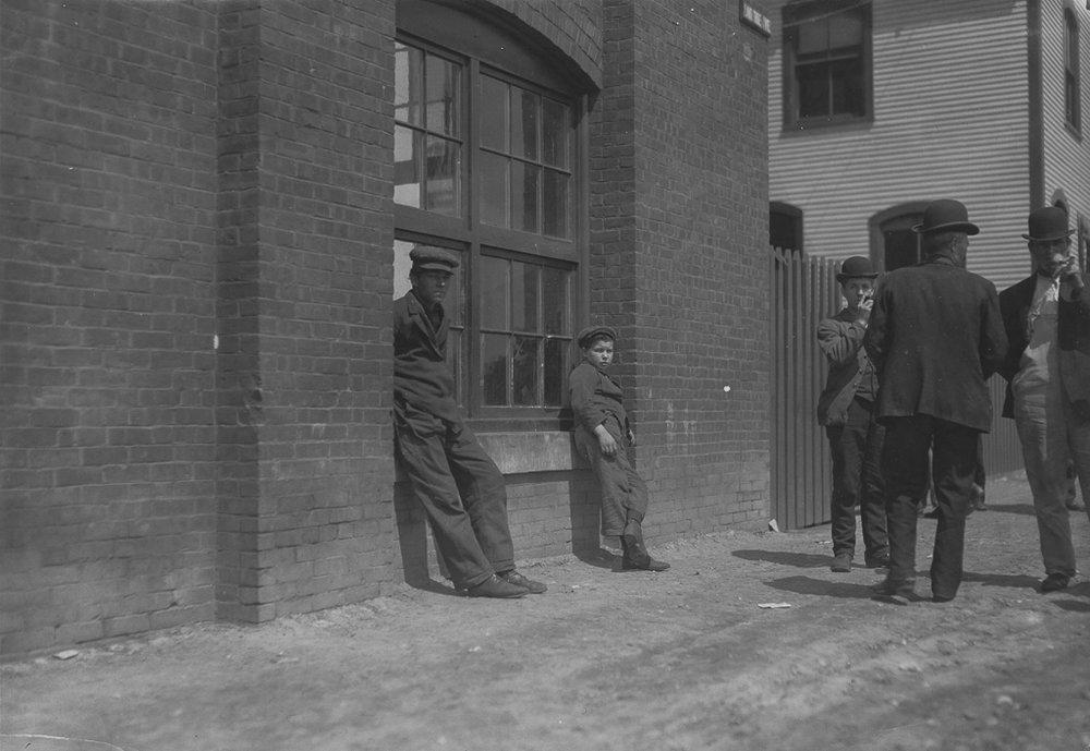 LEWIS WICKES HINE,  Queen City Mill ,  Burlington, Vermont,  1909